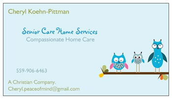 Senior Care Home Services business card