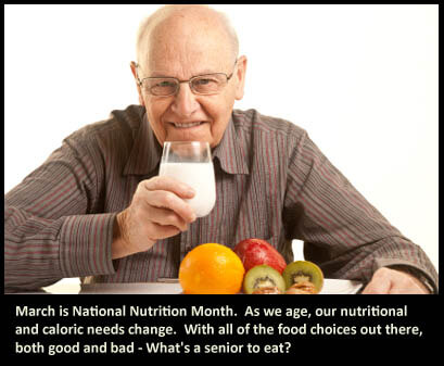 National Nutrition Month and seniors