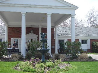 Shelbourne Assisted Living Butler, Pennsylvania has a grand architectural style with private rooms inside!