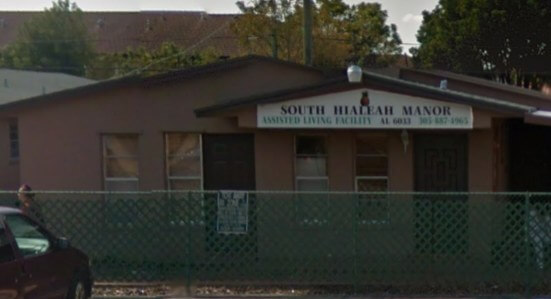 South Hialeah Manor facility outside view