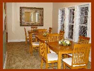 dining room offers a place for socialization