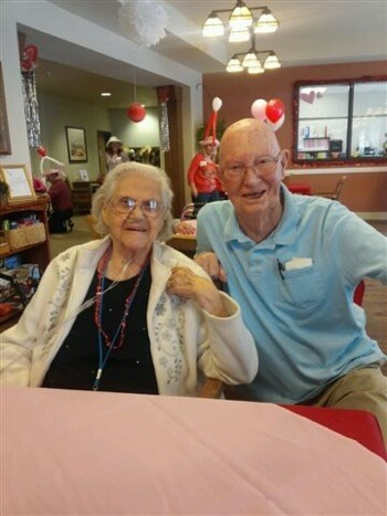 senior couple at The Lodge assisted living