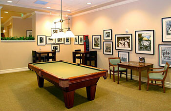 a game room that offers recreational outlets for our residents!