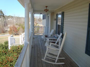 Our porch allows seniors and residents to relax and reflect