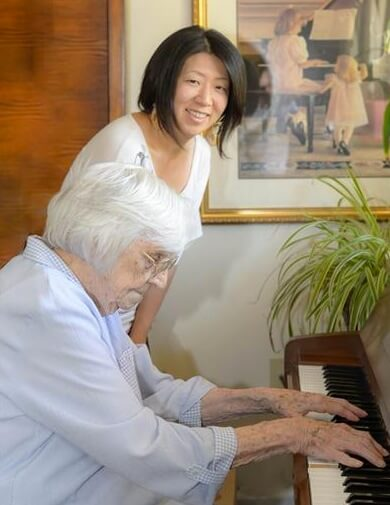 Townsend House - senior playing piano
