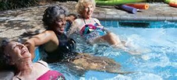 residents enjoying Jacuzzi