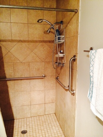 shower area for residents