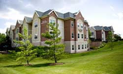 This is an exterior view of University Living assisted living facility in Ann Arbor