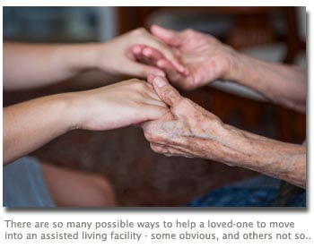 Helping a senior loved-one to move into an assisted living facility