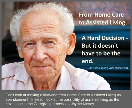 Home Care to Assisted Living senior