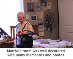 Martha's Room at the assisted living facility