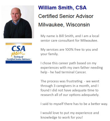 Our Milwaukee-area consultants provide seniors and families with experience and knowldget to make good decisions