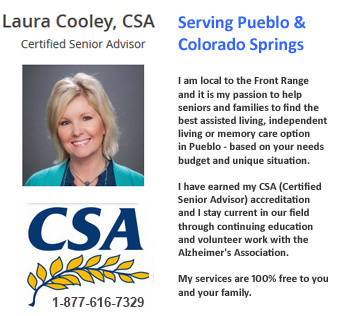 Laura available to help seniors and families to identify care options in Pueblo
