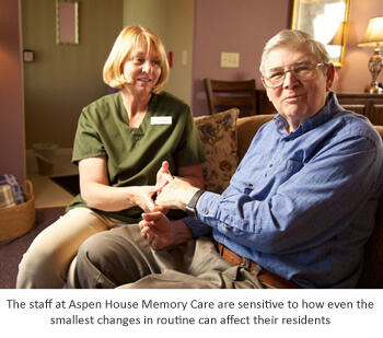 Staff and routine changes with residents of memory care