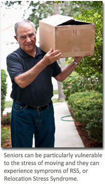Seniors can experience the stress of moving