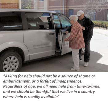 Seniors need to ask for help when they need it.