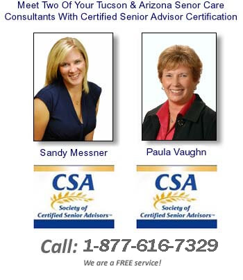 Senior Care Advisors Paula and Sandy for Tucson, AZ