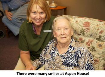 many smiles and happy residents