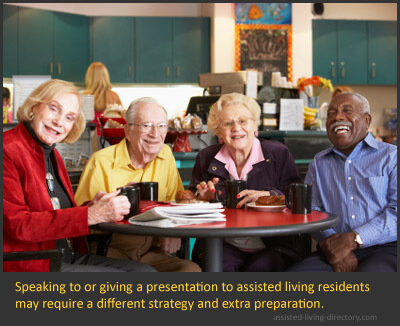 Speaking To Assisted Living Residents