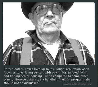 Tough Texas Senior not happy about the State's assistance programs