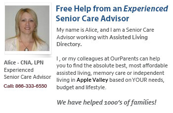 Apple Valley assisted Living help