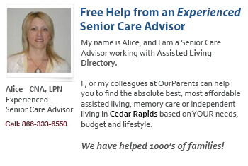 Cedar Rapids qualified senior care help