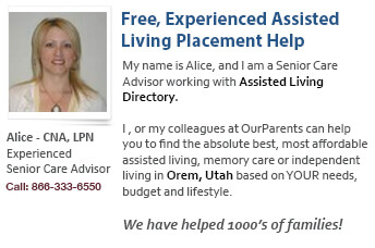 Orem assisted living placement help
