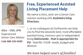 Assisted Living Placement help for PD