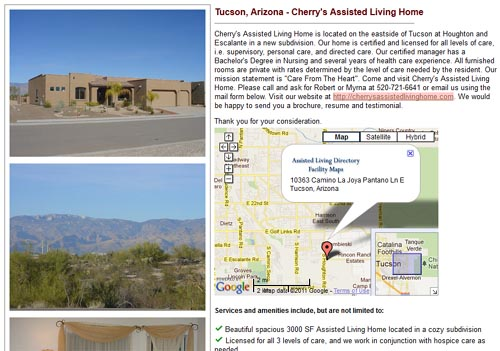 Cherry's Assisted Living Home in Tucson