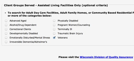 Wisconsin Assisted Living for Veterans