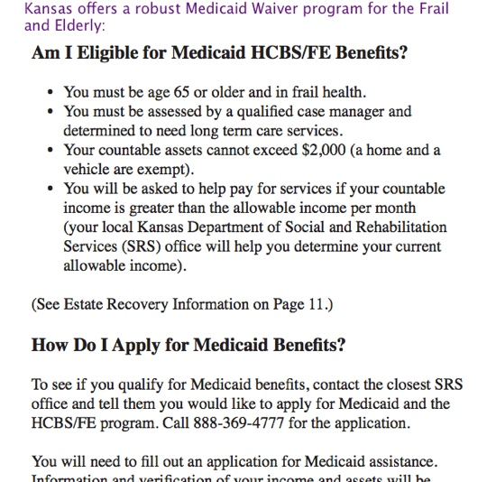 Medicaid Waiver for Kansas
