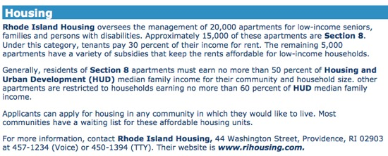 Housing for Low Income Seniors in Rhode Island