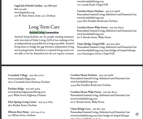 Durham County Long-Term Care Guide