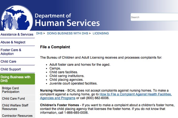File a complaint in Michigan