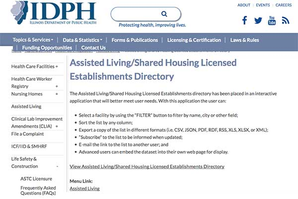 Public Registry Of Home Health Care