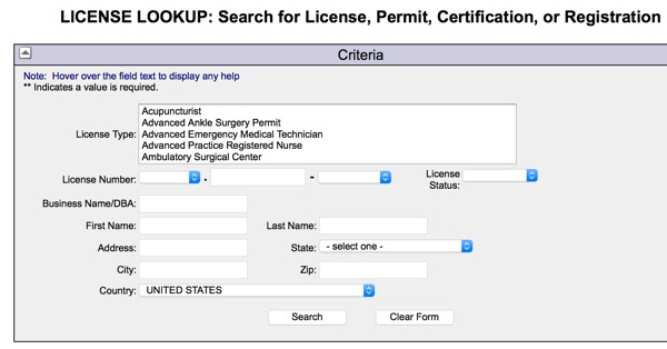 License Lookup Connecticut