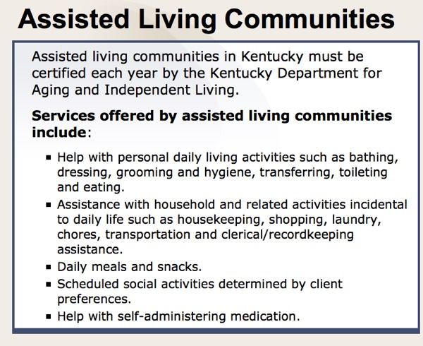 Assisted Living Communities overview