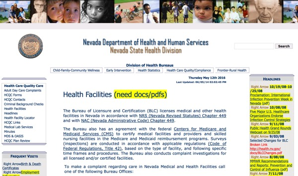Nevada DHHS