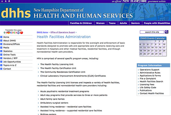 Health Facilities Administration
