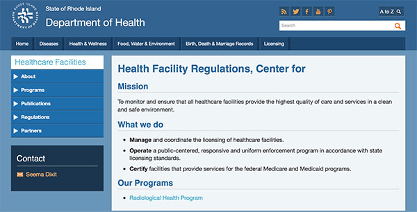 RI Dept. of Health